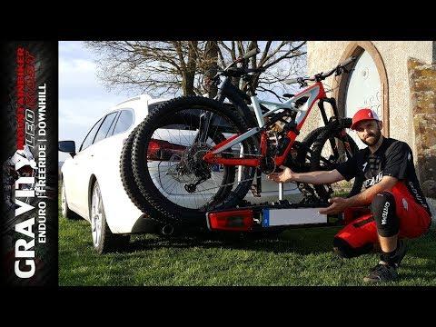 Fahrradträger Westfalia BikeLander LED - BC80   Montage auf Anhängerkupplung   Leo Kast